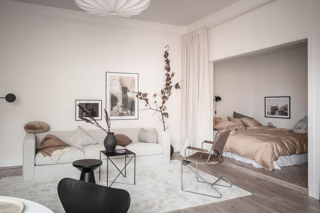 Living Room And Bedroom Combined Coco Lapine Designcoco Lapine Design In 2020 Luxury Homes Interior Home Decor Home