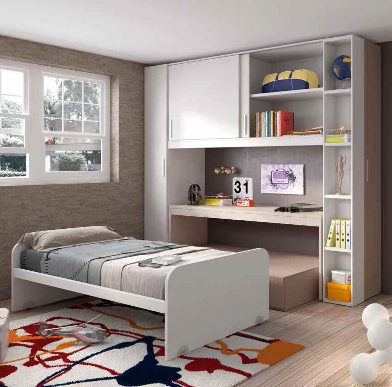 Habitaci n juvenil compacta anker en 2019 habitaciones - Muebles habitacion pequena ...