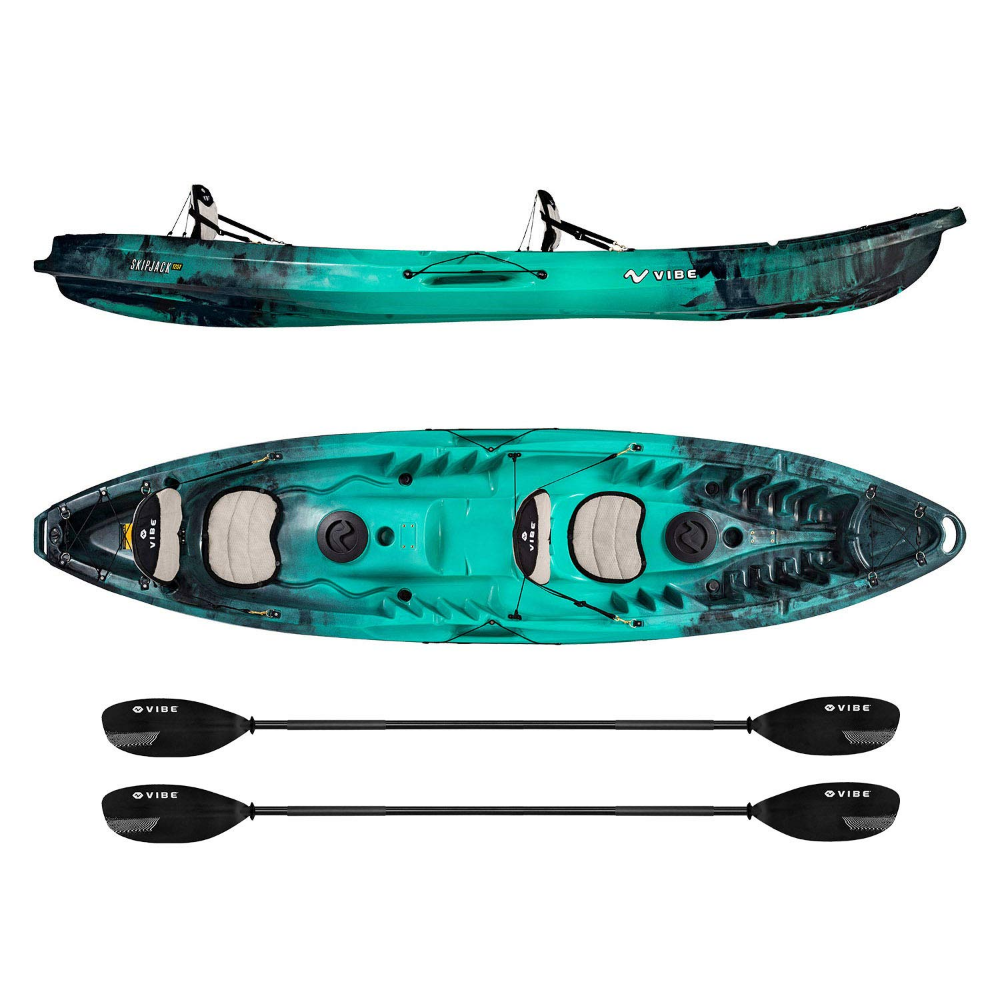 Amazon Com Vibe Kayaks Skipjack 120t 12 Foot Tandem Angler And