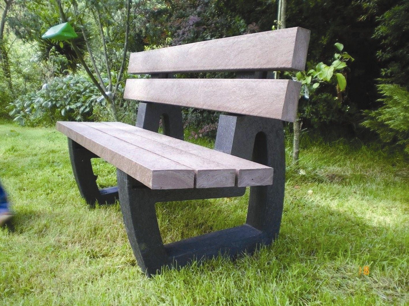 advertising park bench 6 foot economizer recycled plastic bench
