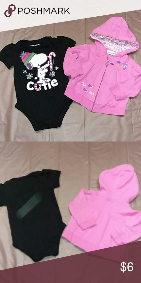 38db7d5f901c7 2 pc bundle Girls 6-9m, Snoopy bodysuit w hoodie EUC, cute! Kids Squad,  Peanuts Shirts & Tops Sweatshirts & Hoodies