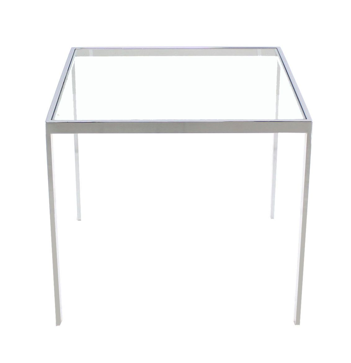Square Cube Chrome And Glass Side Table Soho Lounge Glass Side