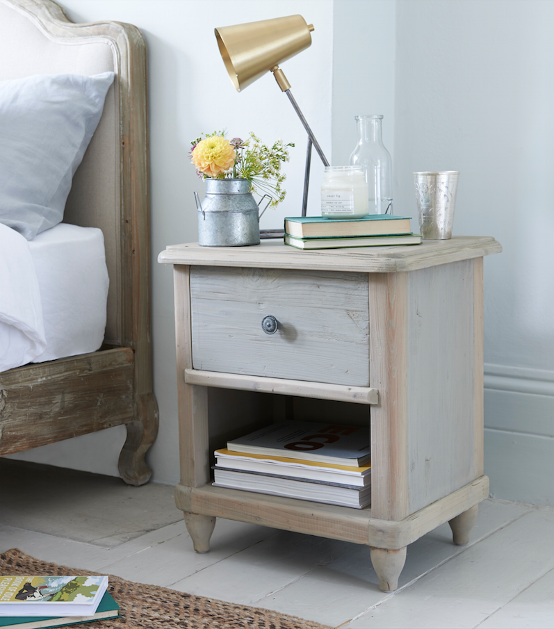 Loaf S Polder Side Table With A Light Grey Wash Topped With Our