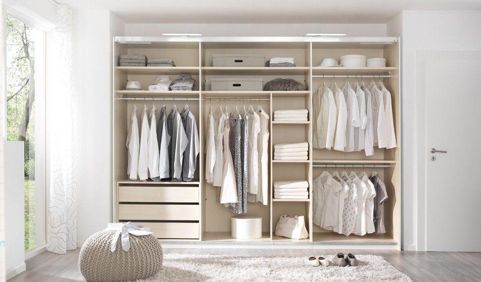 Wellemöbel Kleiderschrank ohne Türen aus Eiche - Möbel Mit www - schlafzimmer ohne kleiderschrank
