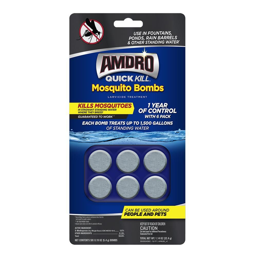Amdro Quick Kill Mosquito Bombs 6 Pack 100530552 Kill Mosquitos Pest Control Mosquito