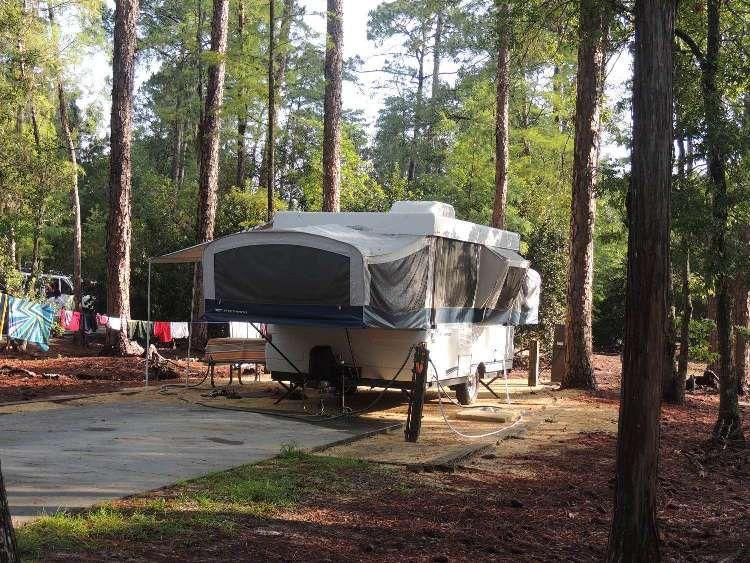 Disneyu0027s Fort Wilderness Resort u0026 CAmpground features c&sites for RVs Pop-up tent trailers & Disneyu0027s Fort Wilderness Resort u0026 CAmpground features campsites ...