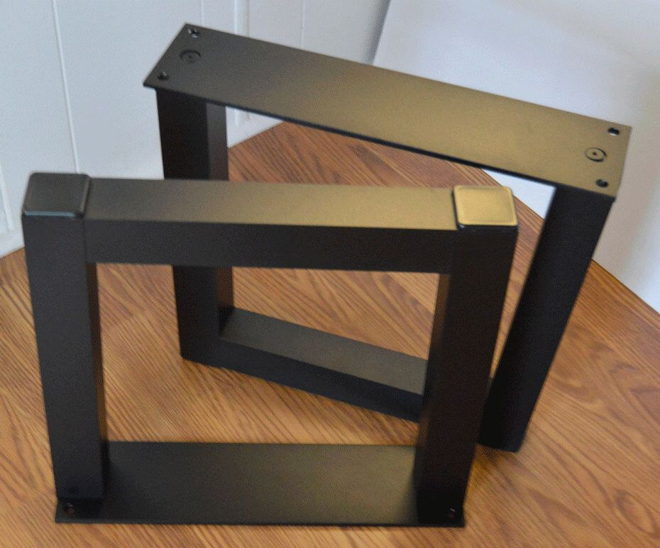 The Best Metal Table Legs 2 Square Aluminum Set Of Frame