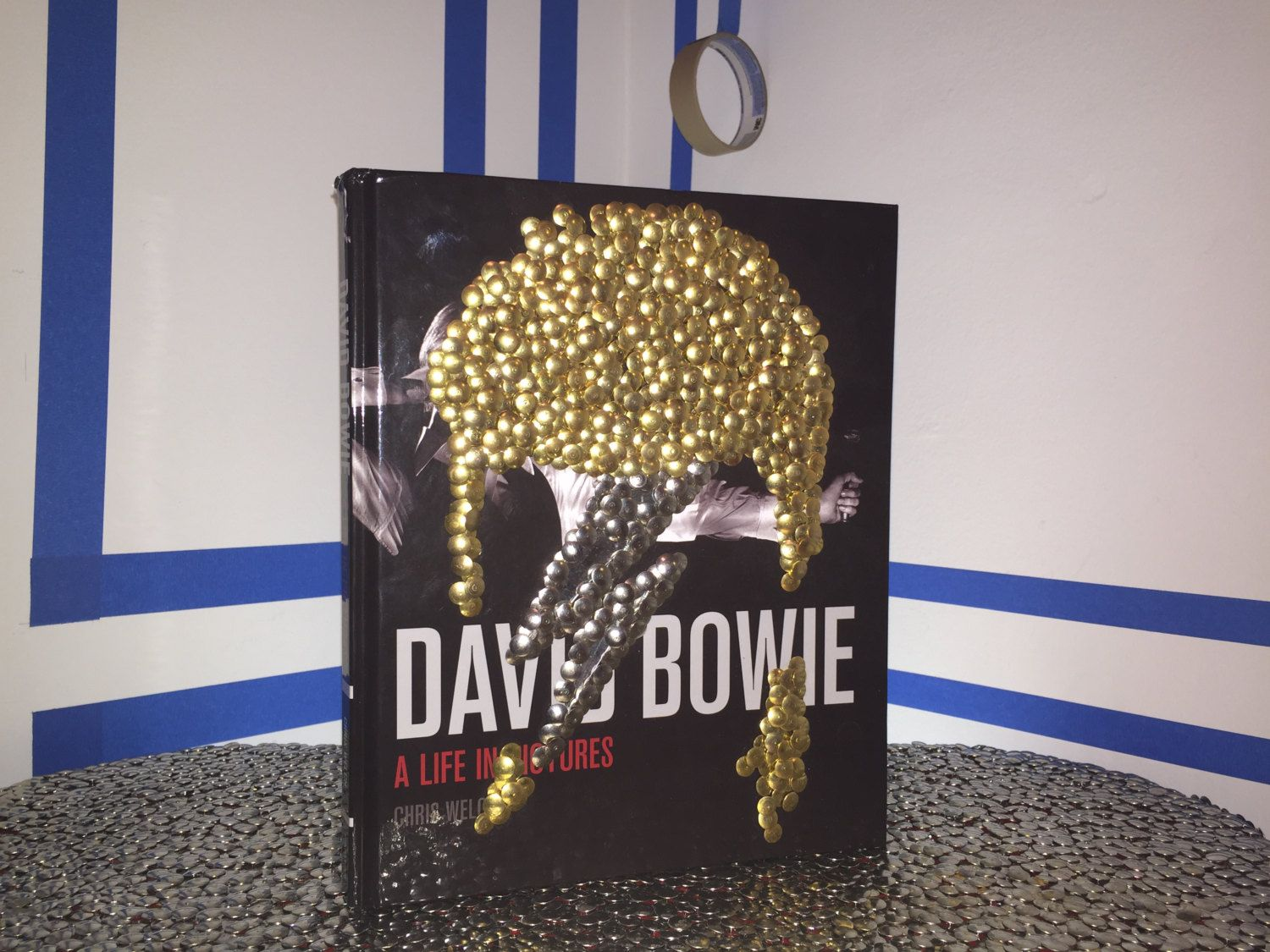 David Bowie Hand Gilded Coffee Table Book By The Bms Ziggy Stardust Music Photo Photography Rock Star Thebms On Etsy