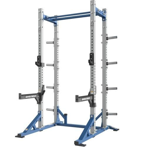 Hammer Strength Hd Athletic Half Rack Highware Platinum Blue At