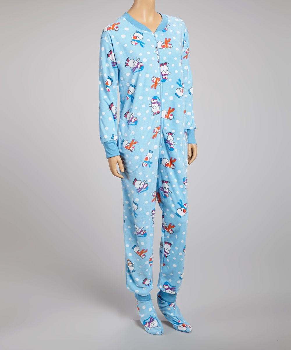 735c416e58 Take a look at this Dolce Vita Intimates Blue Snowman Footie Pajamas - Women  on zulily today!