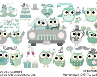 Chef owls Digital clip art for Personal and Commercial use ...