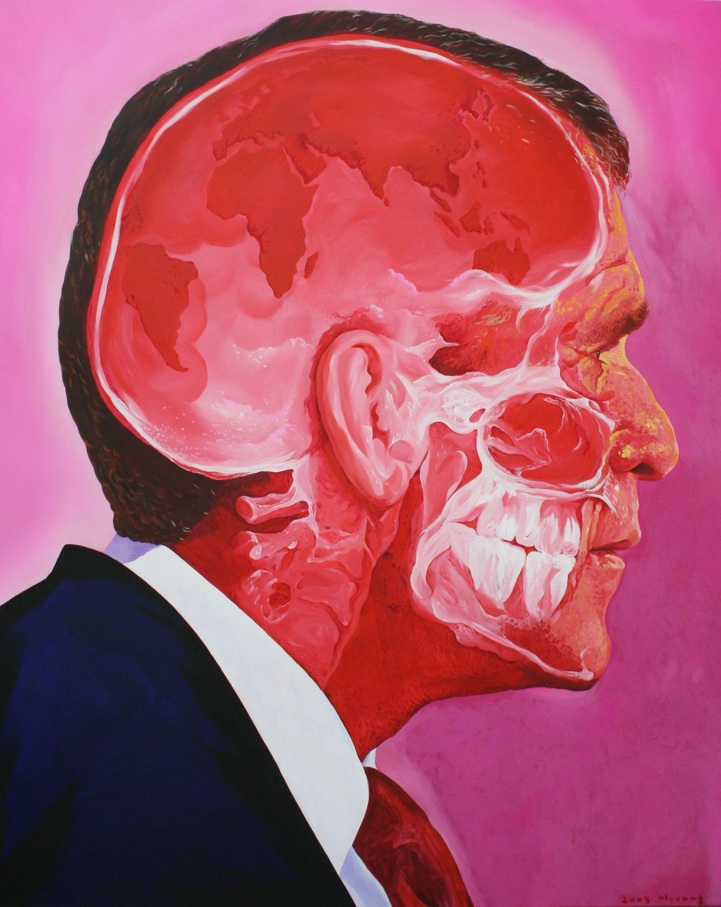 이명복, 환영을 쫓는자의 초상, Bush, 2004 work