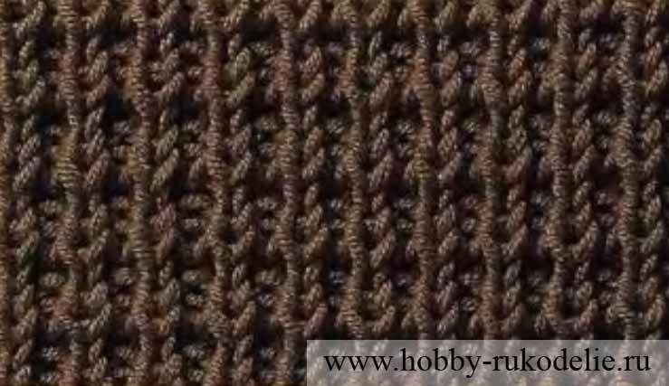 Жаккардовый пуловер с круглой кокеткой - Описание вязания