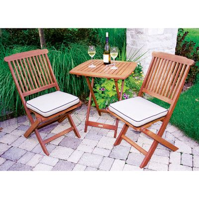 Outdoor Interiors 3 Piece Bistro Set Wayfair This Could Be The One Main St Coffee 2