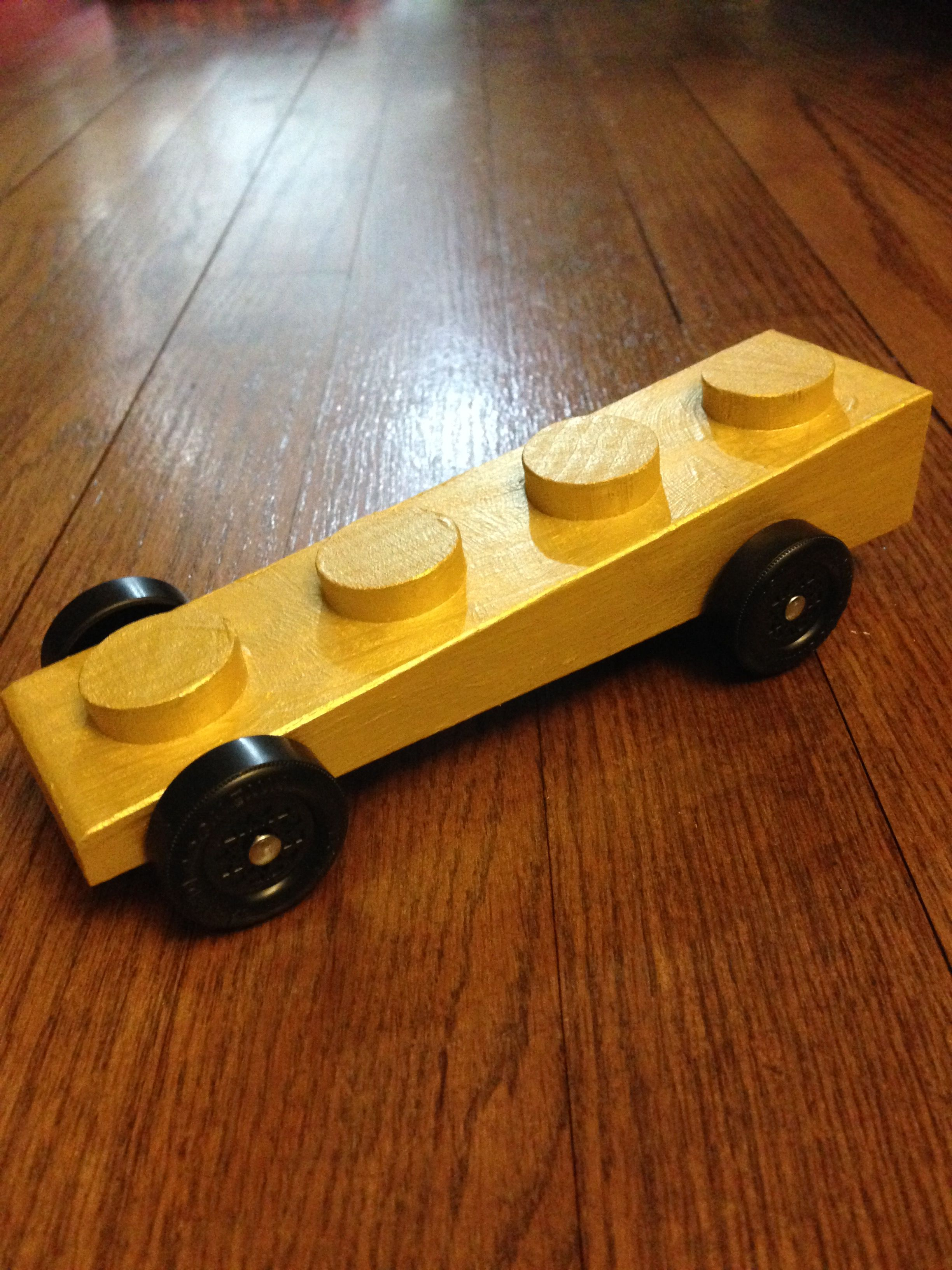 A Golden Lego Brick Of Speed Derby Cars Pinterest Pinewood
