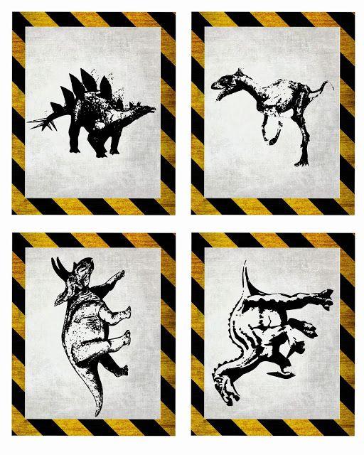 Free dinosaur Jurrasic Park party printables Digital freebies