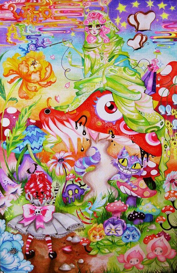 Trippy wonderland art