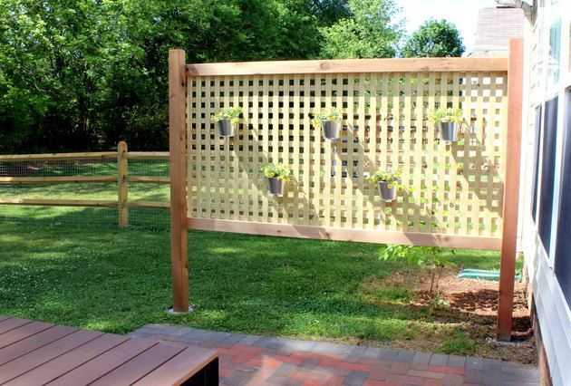 How to Build a Standing Planter Box for a Patio is part of Privacy screen outdoor, Outdoor privacy, Easy outdoor patio, Outdoor patio designs, Diy privacy screen, Outdoor patio space - 4  and 11  deep with trestle legs  Perfect for herbs and a few vegetables or flowers!