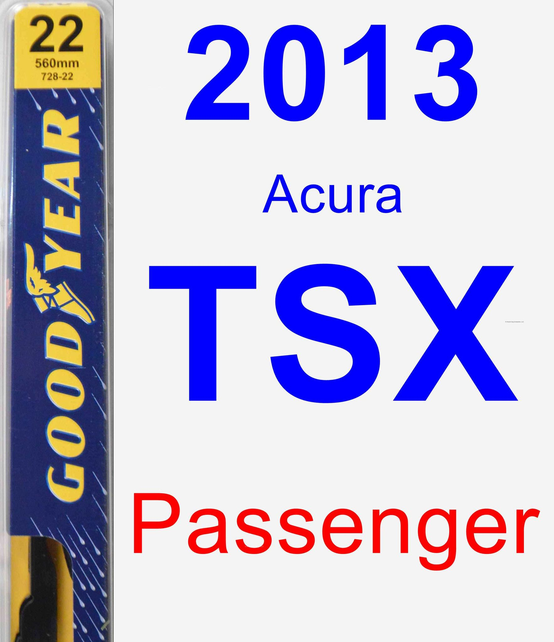 Passenger Wiper Blade For 2013 Acura TSX