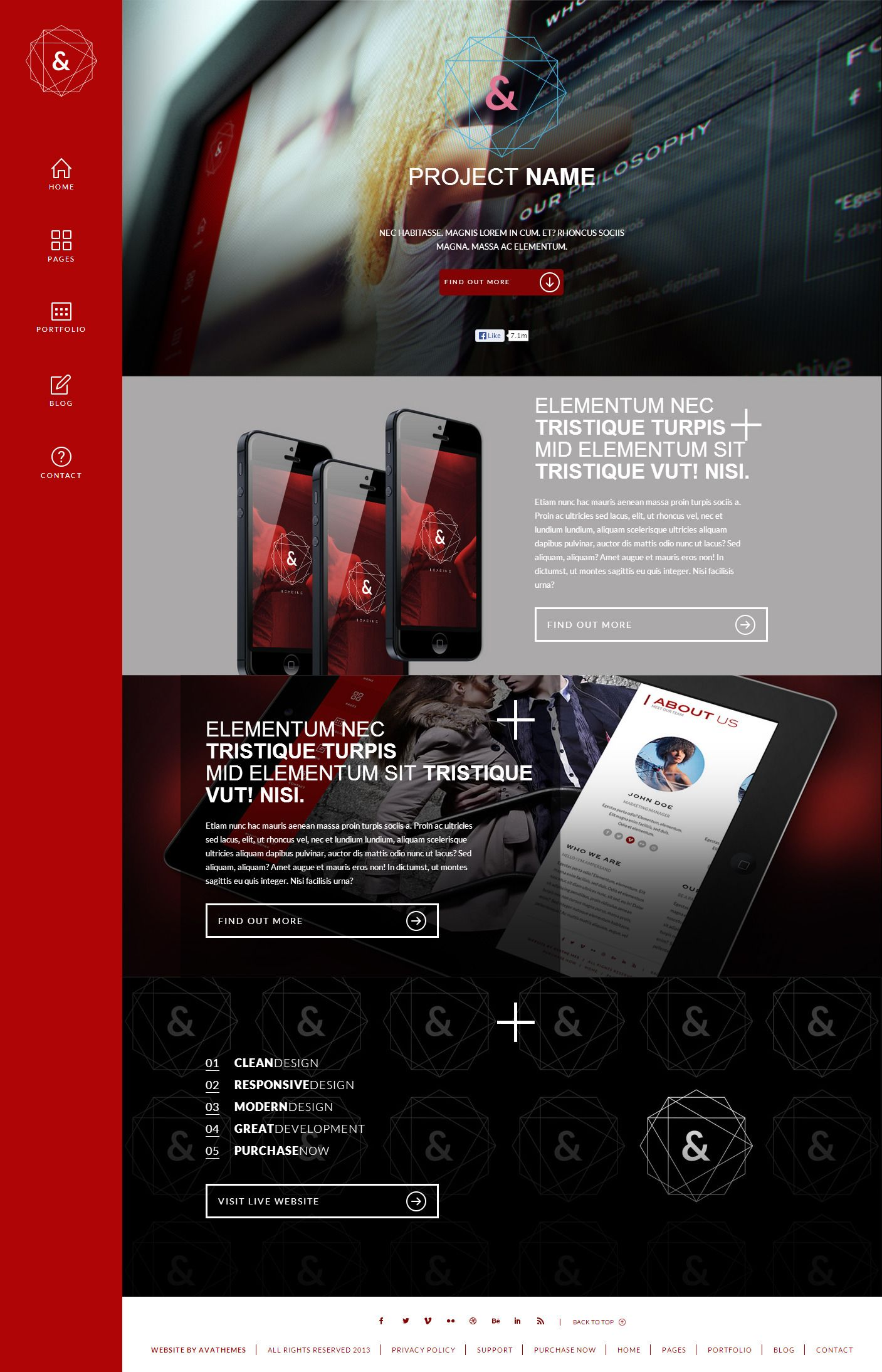 Red Dark Fun Website Design Website Design Website Template Design