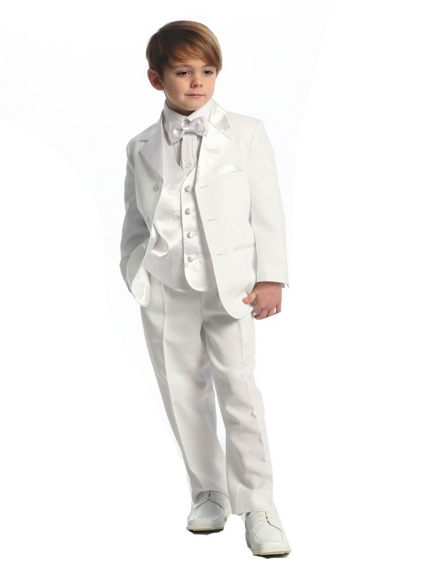 White Ring Bearer Tuxedo with Vest | Products | Pinterest | Ring ...