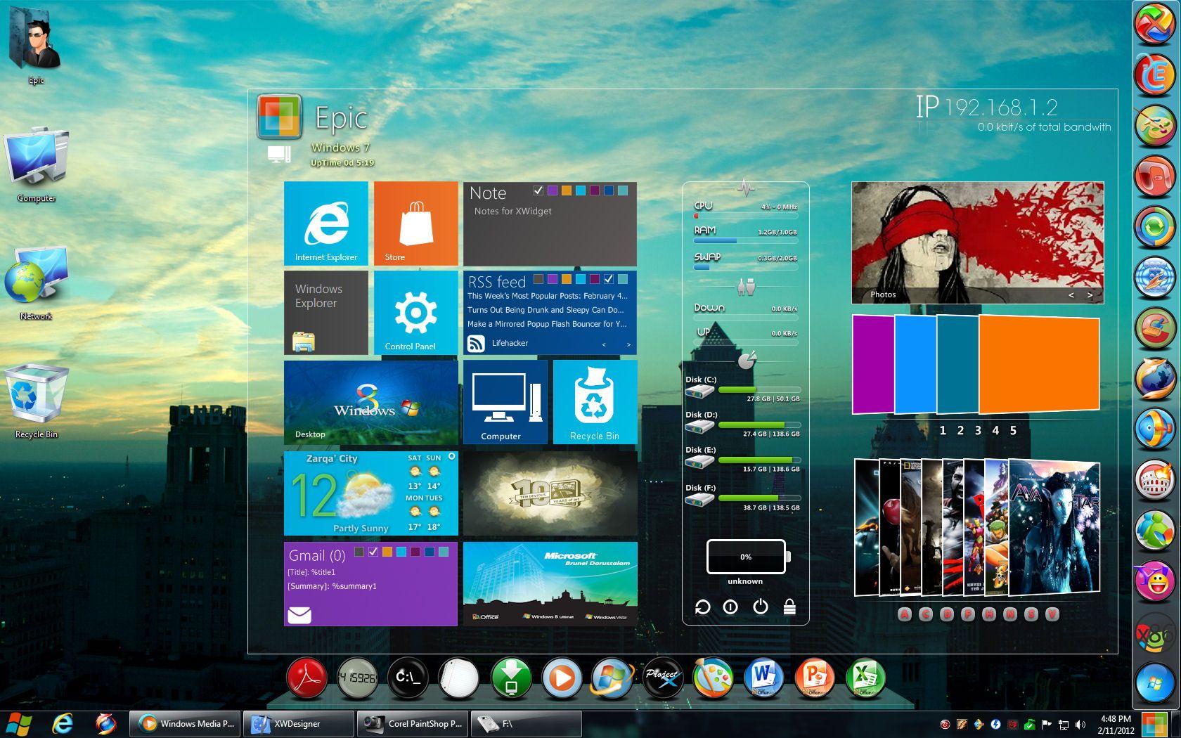 Pretty Cool XWidget Metro Skin | IT | Windows,