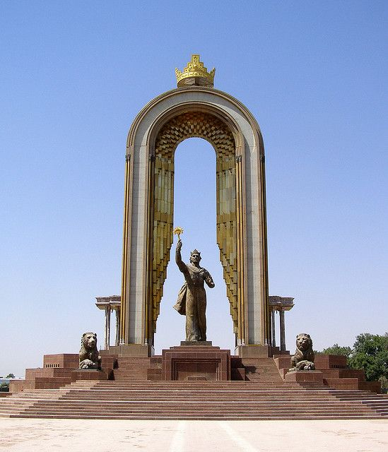 Dushanbe Tajikistan Somoni Monument Tajikistan Dushanbe Monument