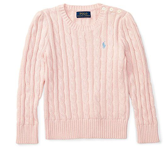 359c3761e407b3 Polo Ralph Lauren Girls Children's KidsJumper Sweater Cable Knit Knitted  Pink   This would make a great Gift Idea for a baby shower. #Ad