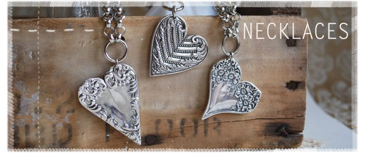 So cool! Two handles of silverware soldered together to make these hearts!