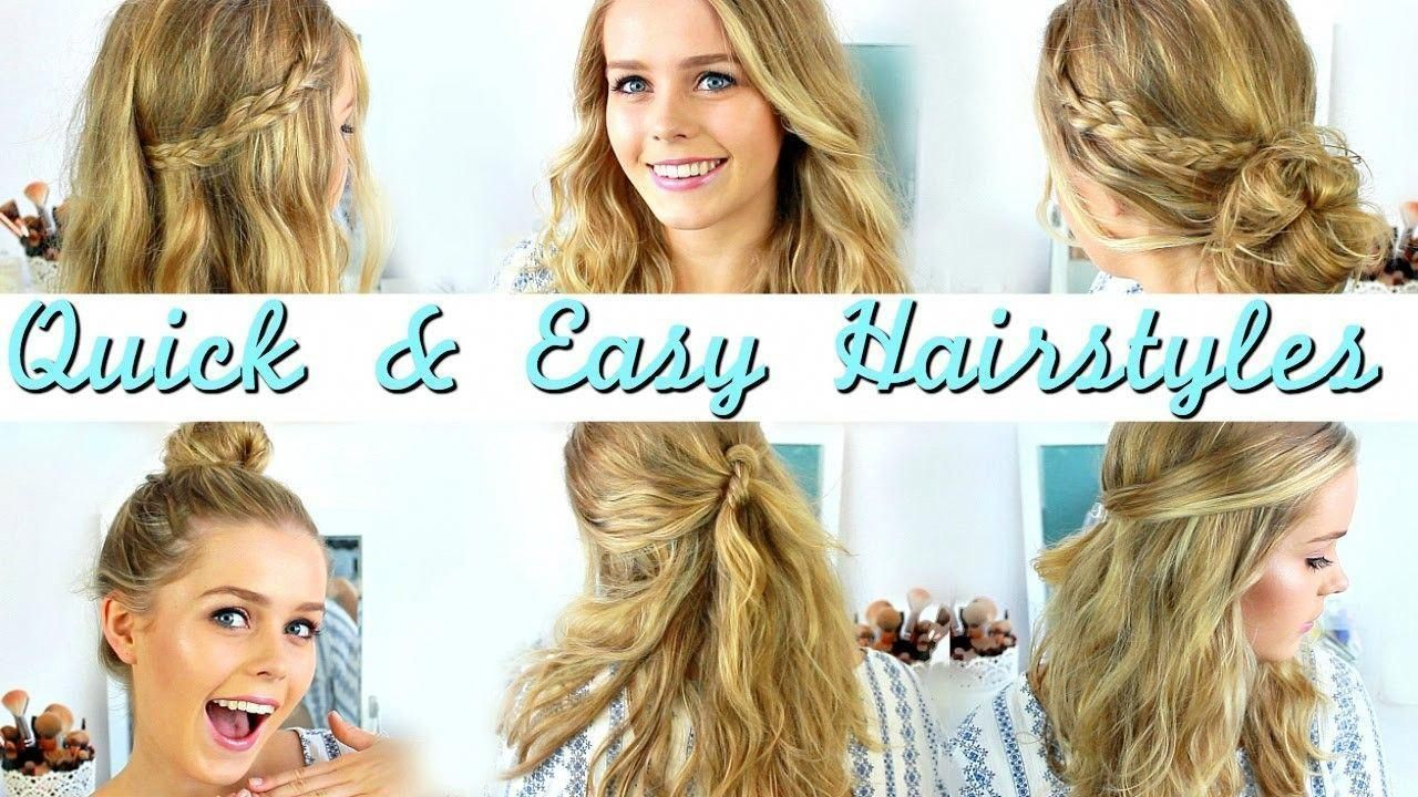 quick and easy hairstyles for medium length hair quick easy