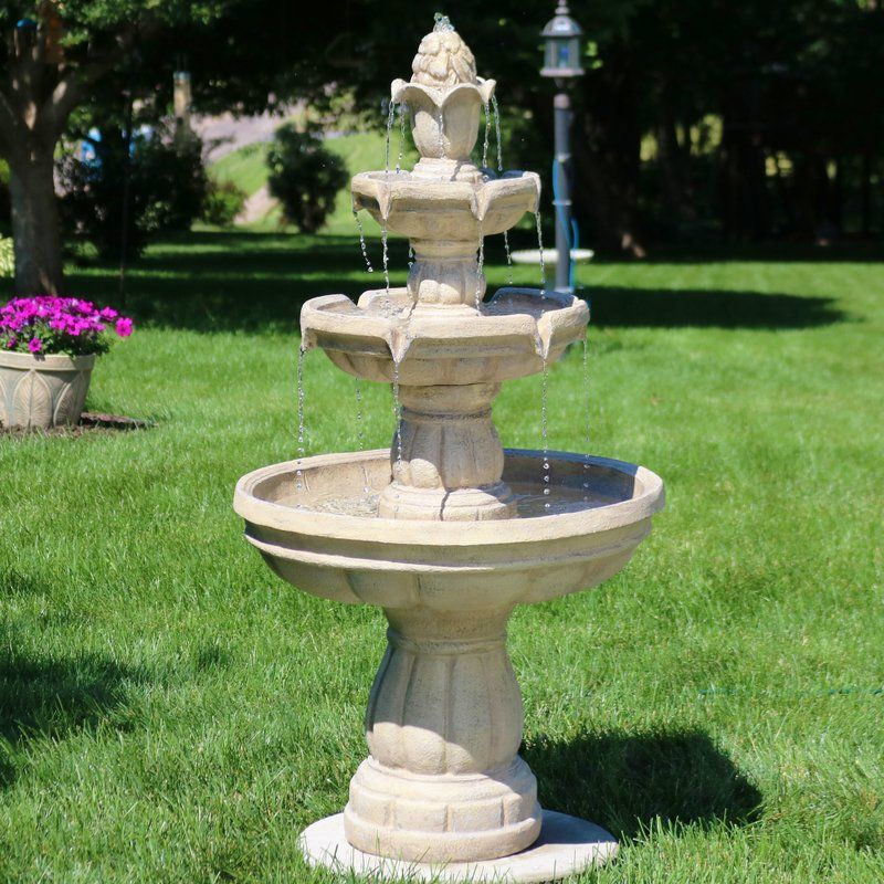 Astoria Grand Durbin Fiberglass 3 Tier Water Fountain Reviews Wayfair Water Fountains Outdoor Outdoor Wall Fountains Diy Water Fountain