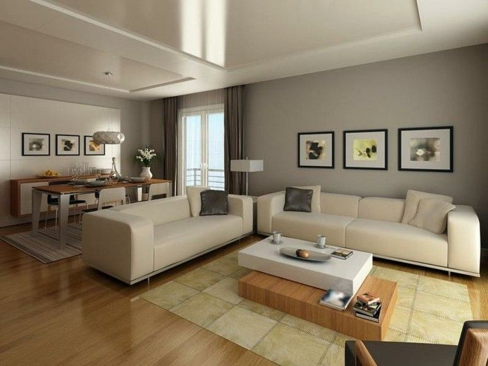 Farbgestaltung Wohnzimmer - Interieurgestaltung - Archzine.net ...