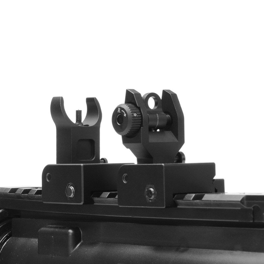 USA  Flip up Front Rear sight  BUIS Back Up Sights For 20mm Mount Gun Rifle