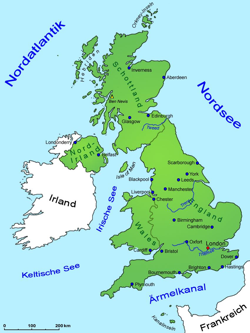 Landkarte Grossbritannien Grossbritannien Karte Orkney Inseln