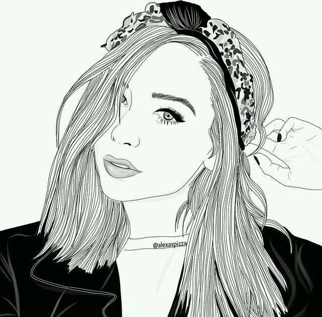 outline dibujos pinterest lovely pretty drawing of girl
