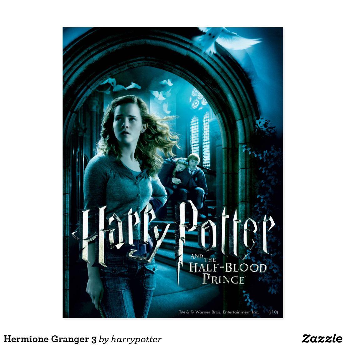 Hermione Granger 3 Postcard Zazzle Com In 2020 Harry Potter Movie Posters Harry Potter Movies Harry Potter
