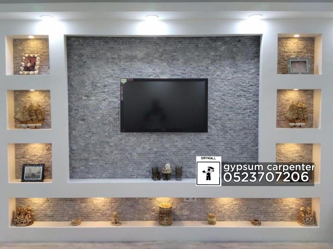 Gypsum Work Tv Wall Design Living Room Design Modern Tv Room Design Tv Wall Design