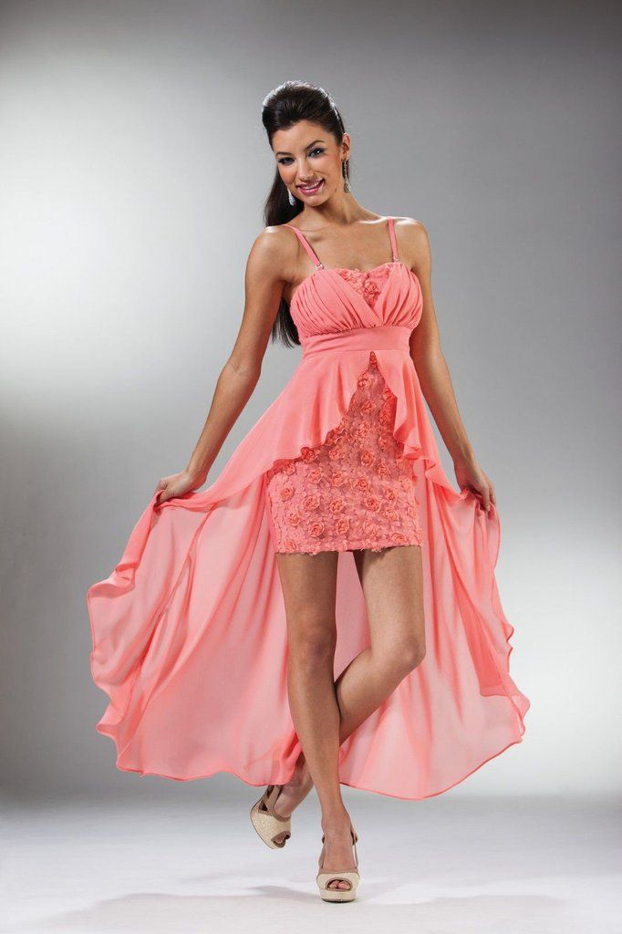 High Low Short Long Prom Party Dress Fun Formal Cocktail Gown The