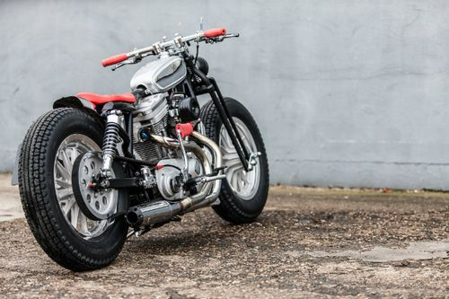 CX500 Street Tracker With Red Seat EVO SPORTSTER Custom By MB Cycles