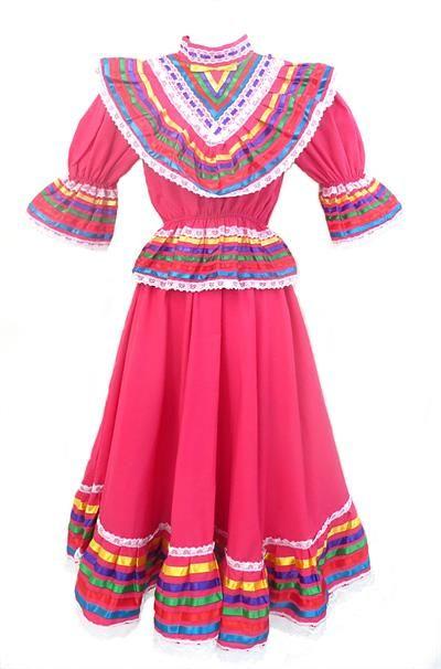 Girls Mexican Dress Vestido Jalisco
