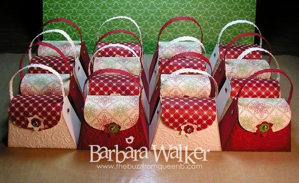 The Buzz: Petite Christmas Purses featuring products from #stampinup
