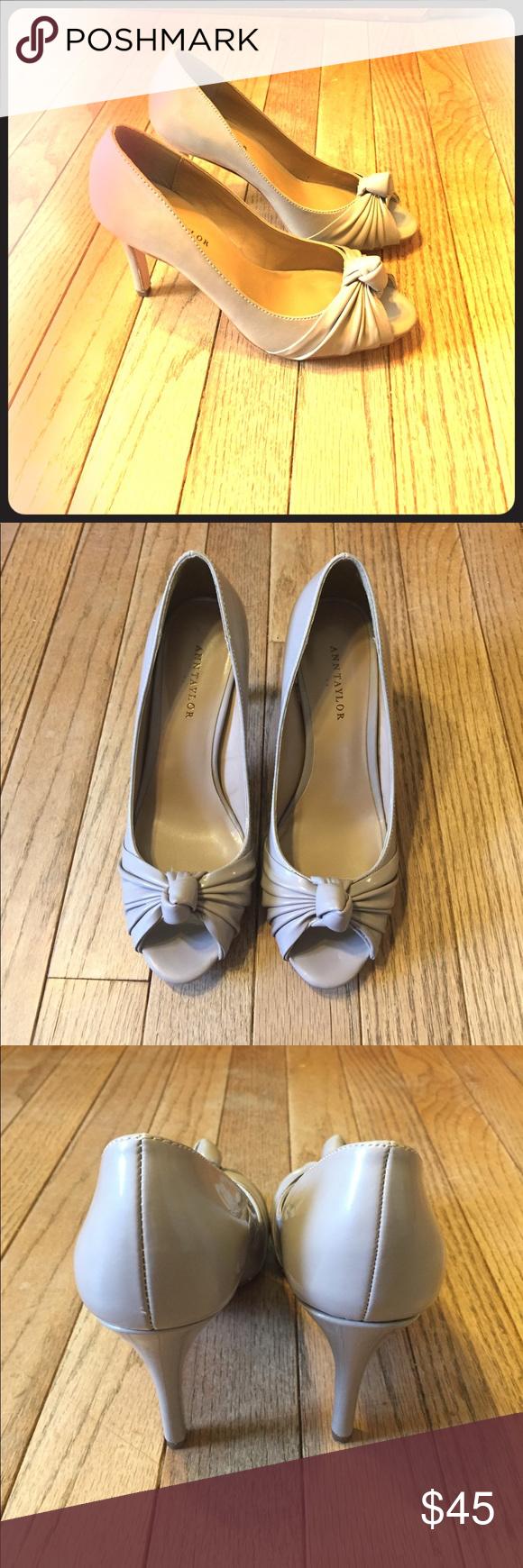 Ann Taylor Porcini knot peep toe heels Heels, Peep toe