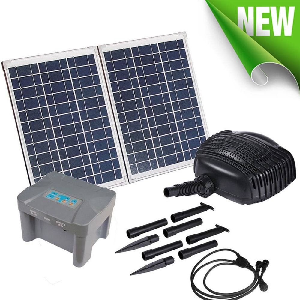 Solar Powered Water Pump with Battery Backup 70W Solar