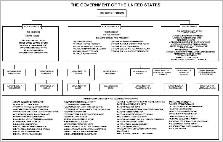US Government Flow Chart  Run Dynamic Orgscope Map Of Us