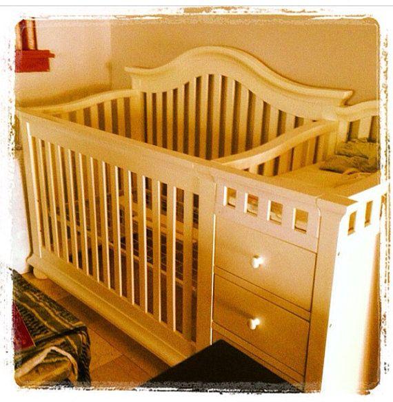 White/rustic baby crib   Rustic baby cribs, Cribs, Baby cribs