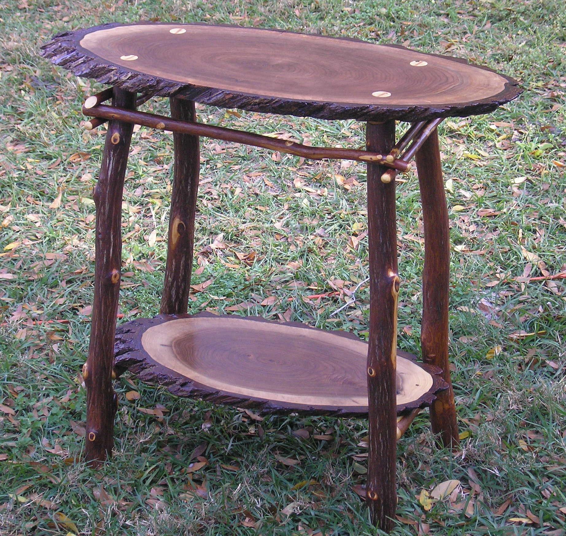 Rustic furniture black walnut table decor