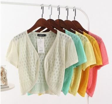 Find More Cardigans Information about Summer hollow out short ...