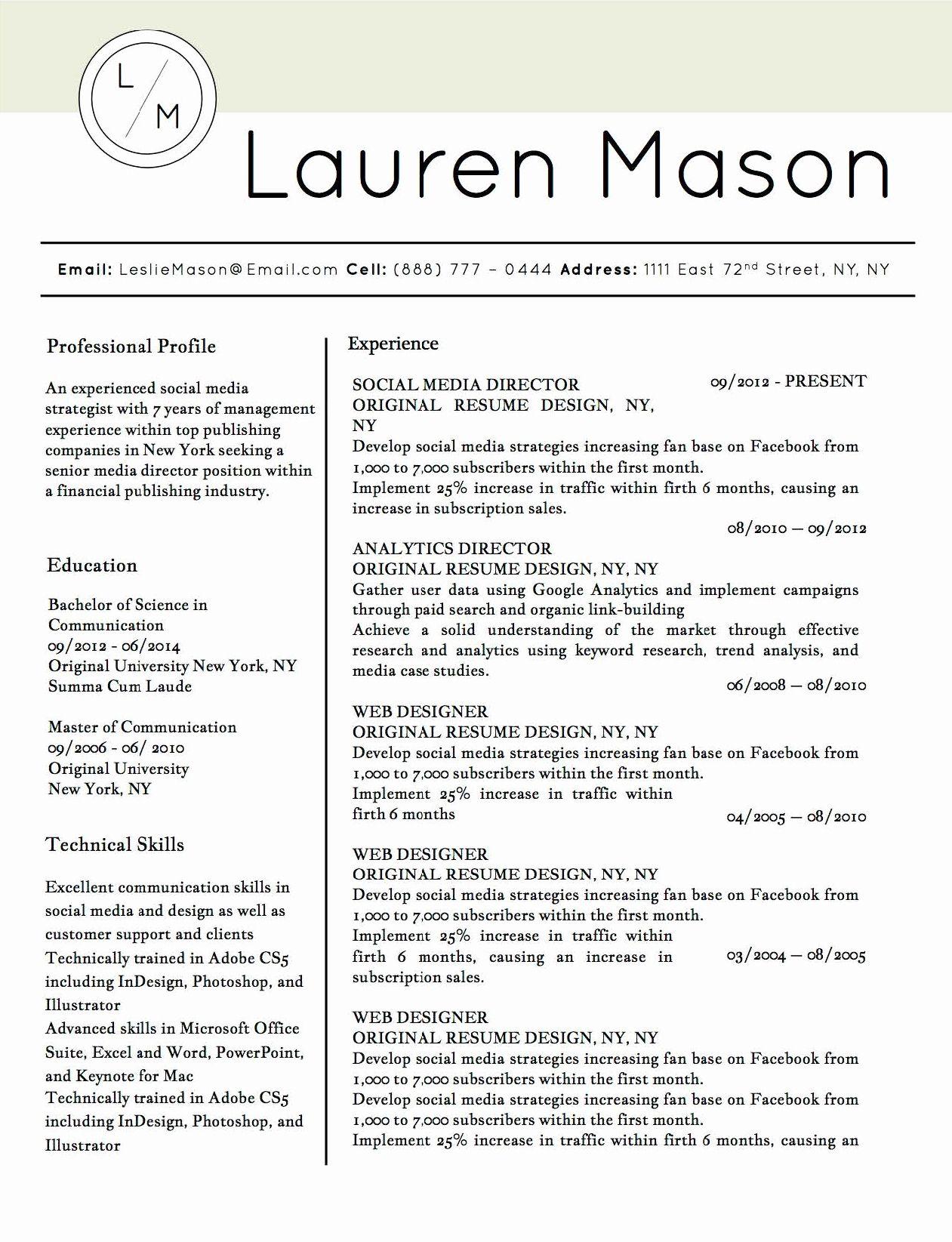 25 Microsoft Word Template Resume in 2020 Job resume