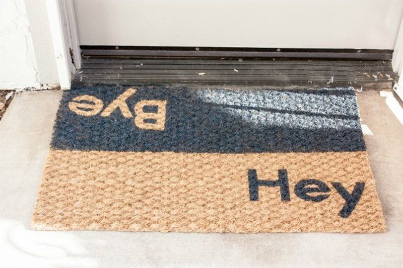 10 Ways To Transform A Basic Welcome Mat Door Mat Diy Diy Door Door Mat