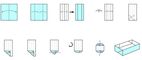 Rectangular Box Simple Origami Pinterest Origami